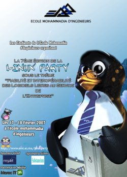 Affiche Linux Party 2007